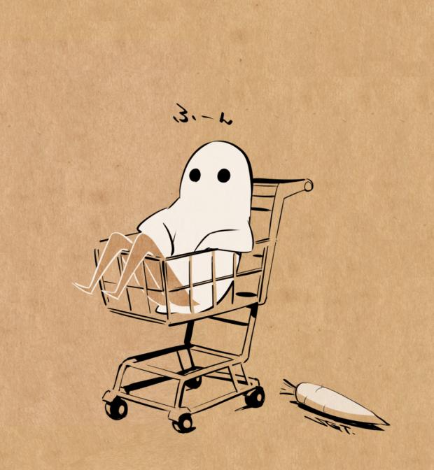 コヤマシゲトさんによる『おばけちゃん』イラスト