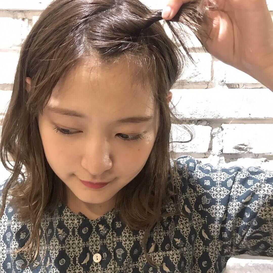 上げる アレンジ 前髪