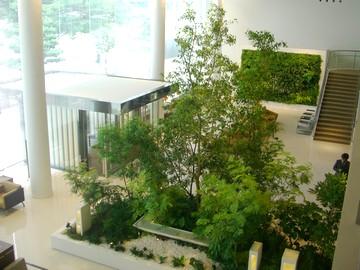 施設内の緑のプロデュースからメンテナンスまで手がける会社
