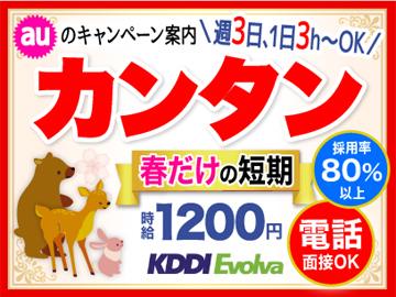 株式会社KDDIエボルバ 九州・四国支社/IA018600のアルバイト情報
