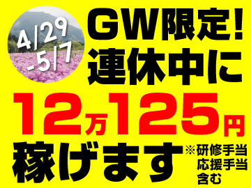 内訳:日給9250円×7日+残業代+スタート応援金