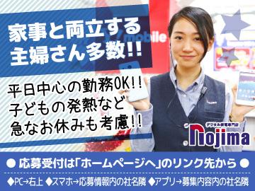 ノジマでんわ館 佐渡店のアルバイト情報