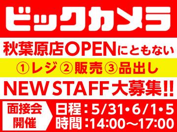 株式会社ビックカメラ 首都圏店舗・合同面接会のアルバイト情報
