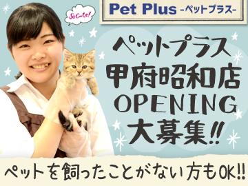 【ペットプラス 甲府昭和店】11月NEWオープン!のアルバイト情報