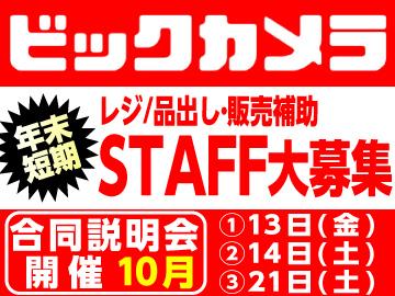 (株)ビックカメラ 首都圏店舗合同面接会(短期) 採用係のアルバイト情報
