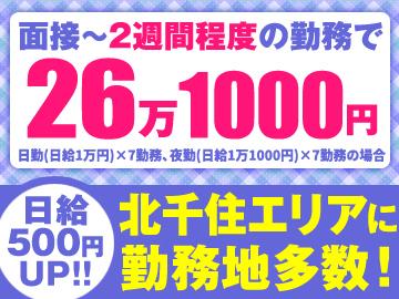 テイケイ株式会社<北千住・松戸・柏エリア>のアルバイト情報