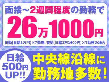 テイケイ株式会社<立川・八王子エリア>のアルバイト情報