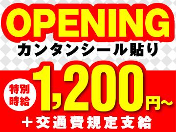 【注目求人】新会社設立につき…今ならオープニング<特別時給>1200円〜スタート!
